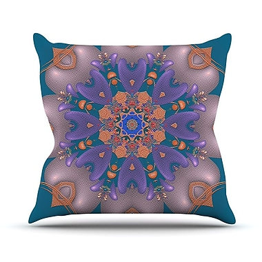 KESS InHouse Whisker Lily by Michael Sussna Throw Pillow; 26'' H x 26'' W x 5'' D