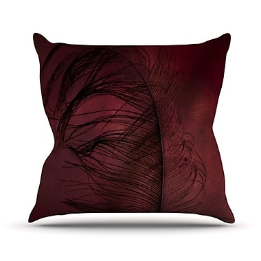 KESS InHouse Plumtickled by Robin Dickinson Throw Pillow; 16'' H x 16'' W x 3'' D