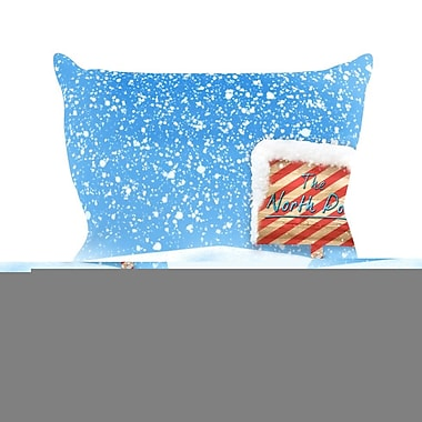 KESS InHouse North Pole by Snap Studio Snow Throw Pillow; 26'' H x 26'' W x 5'' D