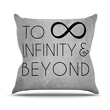 KESS InHouse To Infinity and Beyond Throw Pillow; 18'' H x 18'' W x 3'' D