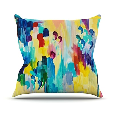 KESS InHouse Don't Quote Me by Ebi Emporium Throw Pillow; 16'' H x 16'' W x 3'' D