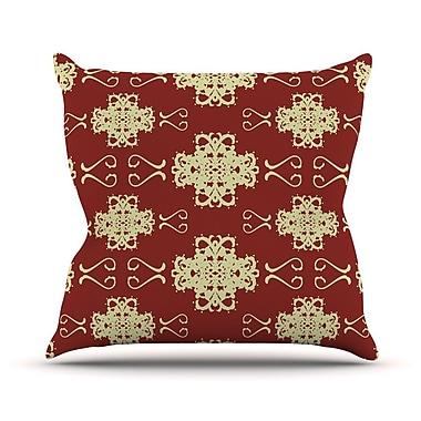 KESS InHouse Asian Motif Damask by Mydeas Pattern Throw Pillow; 16'' H x 16'' W x 1'' D