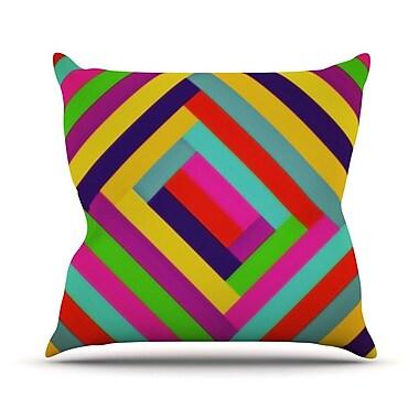 KESS InHouse Nakriv by Trebam Rainbow Abstract Throw Pillow; 16'' H x 16'' W x 3'' D