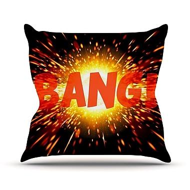 KESS InHouse Bang Throw Pillow; 18'' H x 18'' W x 3'' D