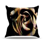 KESS InHouse Rose Swirl by Ingrid Beddoes Rainbow Throw Pillow; 18'' H x 18'' W x 3'' D