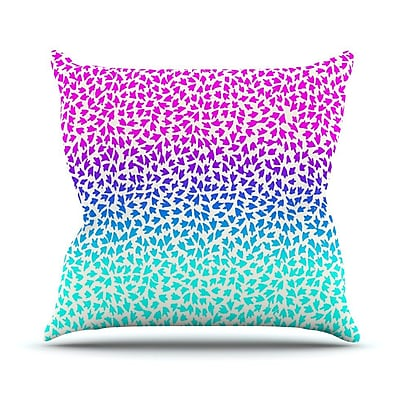 KESS InHouse Ombre Arrows by Sreetama Ray Throw Pillow; 18'' H x 18'' W x 3'' D WYF078277645770