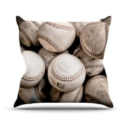 KESS InHouse On the Mound by Debbra Obertanec Baseball Throw Pillow; 18'' H x 18'' W x 1'' D
