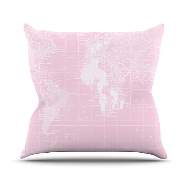 KESS InHouse Her World by Catherine Holcombe Throw Pillow; 20'' H x 20'' W x 1'' D