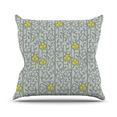 KESS InHouse Deco Orchids by Allison Beilke Throw Pillow; 26'' H x 26'' W x 1'' D