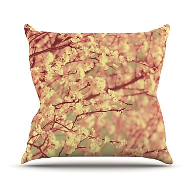 KESS InHouse Vintage Blossoms by Ingrid Beddoes Flower Throw Pillow; 20'' H x 20'' W x 4'' D