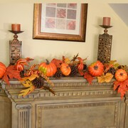 Floral Home Decor Deluxe Pumpkin Berry Fall Leaf Garland