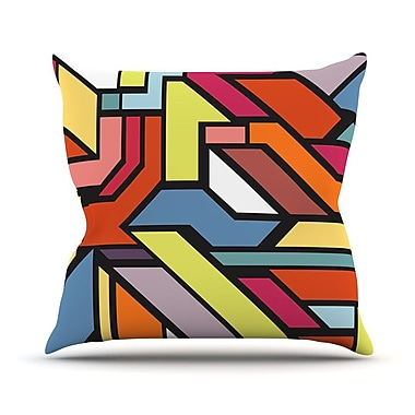 KESS InHouse Abstract Shapes by Danny Ivan Throw Pillow; 18'' H x 18'' W x 1'' D