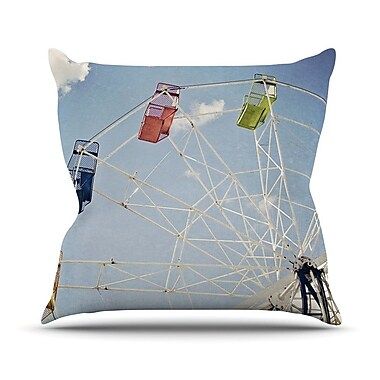 KESS InHouse The Show Came to Town by Susannah Tucker Carnival Throw Pillow; 20'' H x 20'' W x 4'' D