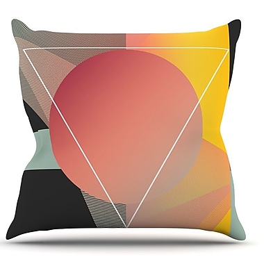 KESS InHouse Objectum by Danny Ivan Abstract Throw Pillow; 16'' H x 16'' W x 1'' D