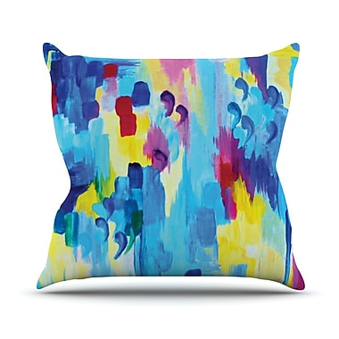 KESS InHouse Don't Quote Me Revisited by Ebi Emporium Throw Pillow; 18'' H x 18'' W x 3'' D