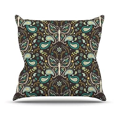 KESS InHouse Butterfly Garden by Suzie Tremel Throw Pillow; 20'' H x 20'' W x 4'' D