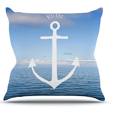 KESS InHouse Roam III by Ann Barnes Anchor Throw Pillow; 16'' H x 16'' W x 1'' D