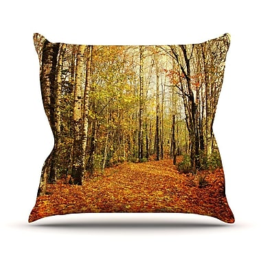 KESS InHouse Autumn Leaves by Sylvia Cook Rustic Throw Pillow; 18'' H x 18'' W x 3'' D