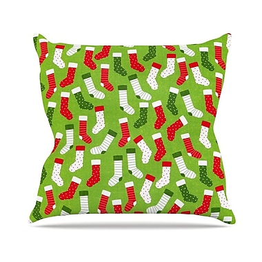KESS InHouse Stocking Season by Heidi Jennnings Throw Pillow; 16'' H x 16'' W x 3'' D