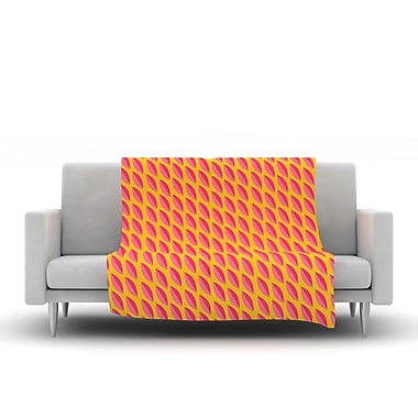 KESS InHouse Seed Pods by Michelle Drew Fleece Throw Blanket; 40'' H x 30'' W x 1'' D