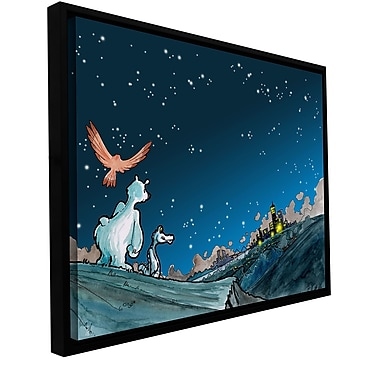 ArtWall 'Polar 4' by Luis Peres Framed Graphic Art on Wrapped Canvas; 18'' H x 24'' W