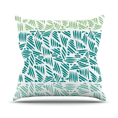 KESS InHouse Bamboo Pom Graphic Throw Pillow; 20'' H x 20'' W x 4'' D