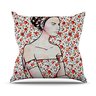 KESS InHouse Spring Fashion by Brittany Guarino Wood Flowers Throw Pillow; 20'' H x 20'' W x 1'' D