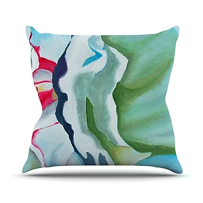 KESS InHouse Peony Shadows by Cathy Rodgers Flower Throw Pillow; 20'' H x 20'' W x 1'' D