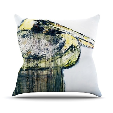 KESS InHouse Oldtimer by Josh Serafin Bird Throw Pillow; 16'' H x 16'' W x 3'' D