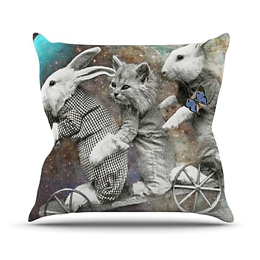 KESS InHouse Space Travel by Suzanne Carter Throw Pillow; 20'' H x 20'' W x 4'' D