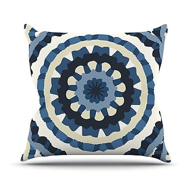 KESS InHouse Ribbon Mandala by Laura Nicholson Throw Pillow; 26'' H x 26'' W x 5'' D