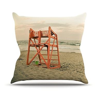 KESS InHouse Dusk At the Beach by Debbra Obertanec Ocean Throw Pillow; 16'' H x 16'' W x 1'' D