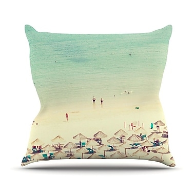 KESS InHouse Happy Summer by Ingrid Beddoes Beach Throw Pillow; 20'' H x 20'' W x 4'' D