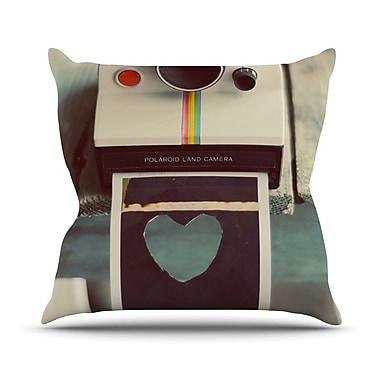 KESS InHouse Polaroid Love by Cristina Mitchell Camera Throw Pillow; 20'' H x 20'' W x 1'' D