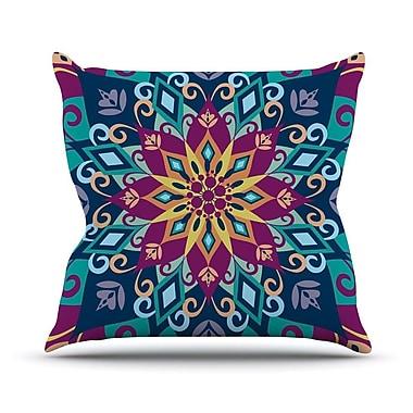 KESS InHouse Blooming Mandala by Amanda Lane Throw Pillow; 26'' H x 26'' W x 1'' D