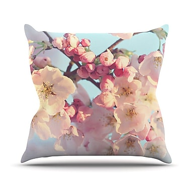 KESS InHouse Waiting for Spring by Sylvia Cook Throw Pillow; 20'' H x 20'' W x 4'' D