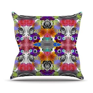 KESS InHouse Tropical Flowers by Vasare Nar Throw Pillow; 16'' H x 16'' W x 3'' D