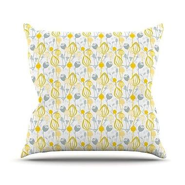 KESS InHouse Willow Wisp by Julie Hamilton Throw Pillow; 16'' H x 16'' W x 3'' D