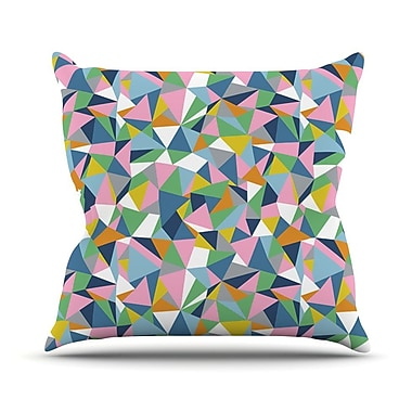 KESS InHouse Abstraction by Project M Rainbow Abstract Throw Pillow; 18'' H x 18'' W x 3'' D