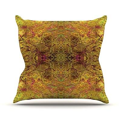 KESS InHouse Goldenrod by Nikposium Throw Pillow; 26'' H x 26'' W x 5'' D