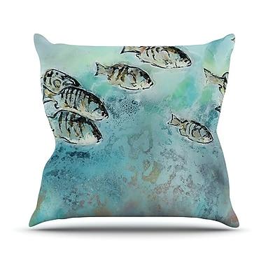 KESS InHouse Surf Perch by Josh Serafin Throw Pillow; 20'' H x 20'' W x 4'' D