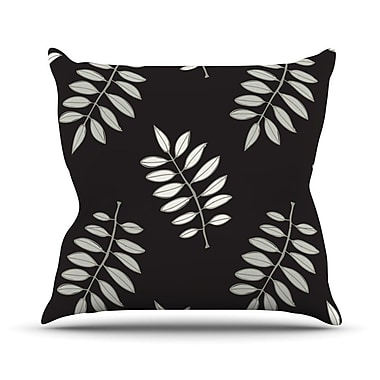 KESS InHouse Pagoda Leaf by Laurie Baars Floral Illustration Throw Pillow; 16'' H x 16'' W x 3'' D