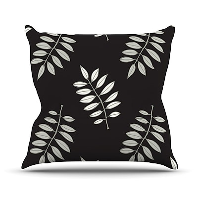 KESS InHouse Pagoda Leaf by Laurie Baars Floral Illustration Throw Pillow; 26'' H x 26'' W x 5'' D