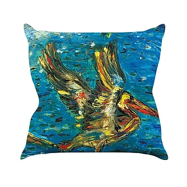 KESS InHouse Seabirds by Josh Serafin Throw Pillow; 26'' H x 26'' W x 5'' D
