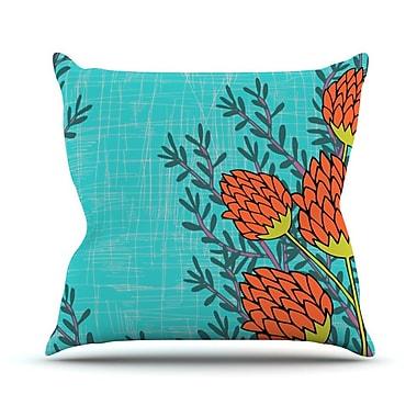 KESS InHouse Flowers by Nandita Singh Throw Pillow; 18'' H x 18'' W x 3'' D