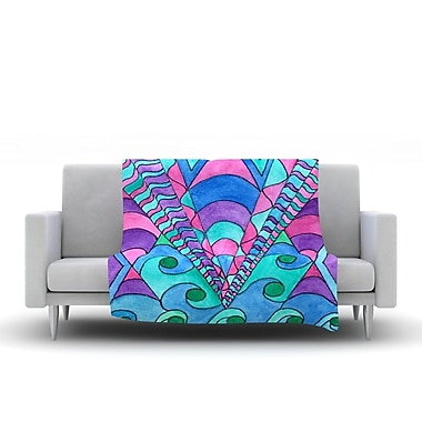 KESS InHouse Gatsby Inspired by Rosie Fleece Throw Blanket; 80'' H x 60'' W x 1'' D