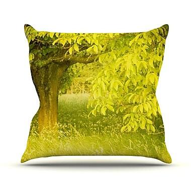 KESS InHouse Summer by Iris Lehnhardt Trees Throw Pillow; 16'' H x 16'' W x 3'' D