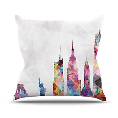 KESS InHouse New York by Mareike Boehmer Rainbow City Throw Pillow; 26'' H x 26'' W x 5'' D