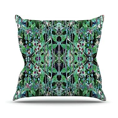 KESS InHouse Grun by Danii Pollehn Abstract Throw Pillow; 26'' H x 26'' W x 1'' D