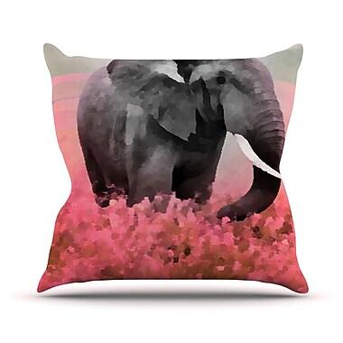 KESS InHouse Ele-Phant by Oriana Cordero Throw Pillow; 18'' H x 18'' W x 3'' D